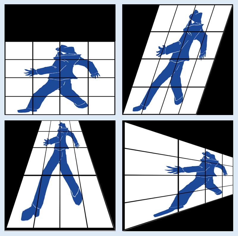 Python-OpenCVによる射影変換の例