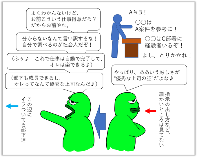 丸投げ上司の思考_勘違い_慢心