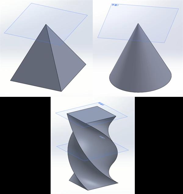 SolidWorks_四角錐_円錐_参照ジオメトリ_作り方_完成